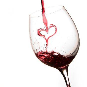 wine glass heart